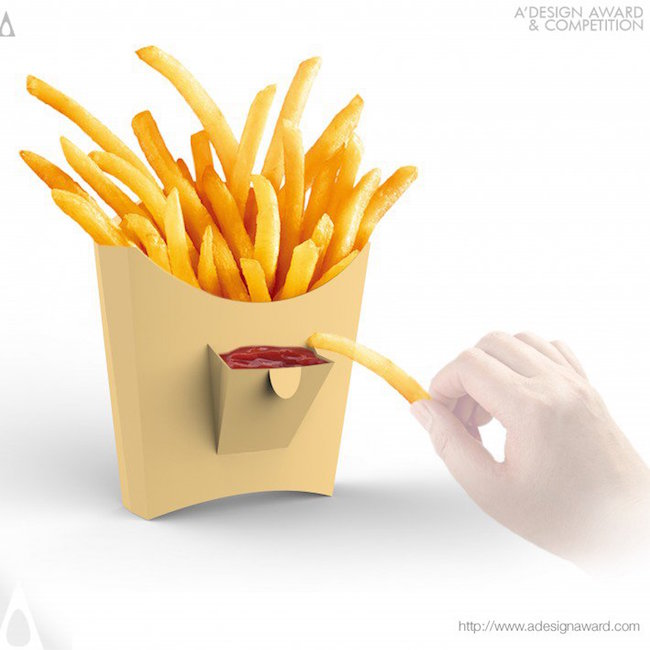 A' Design Award Winners - Little Pocket French Fries Box