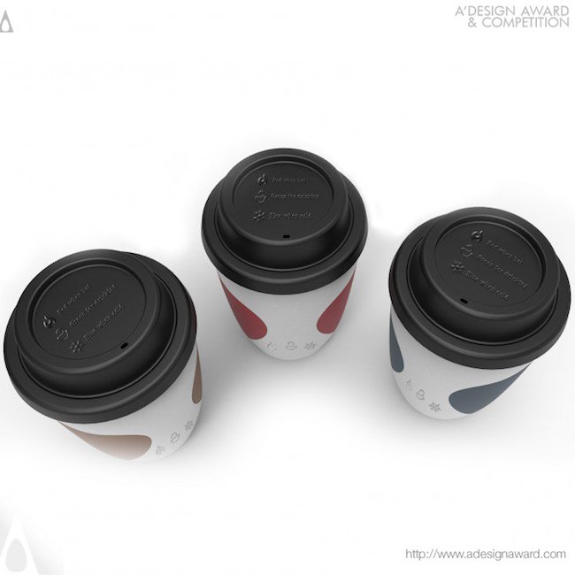 A' Design Award Winners - Coffee Cup Indicating Temperature