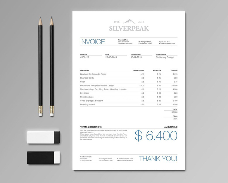 Amazing Creative Invoice Bill Designs To Impress Clients   1  Invoice Designer