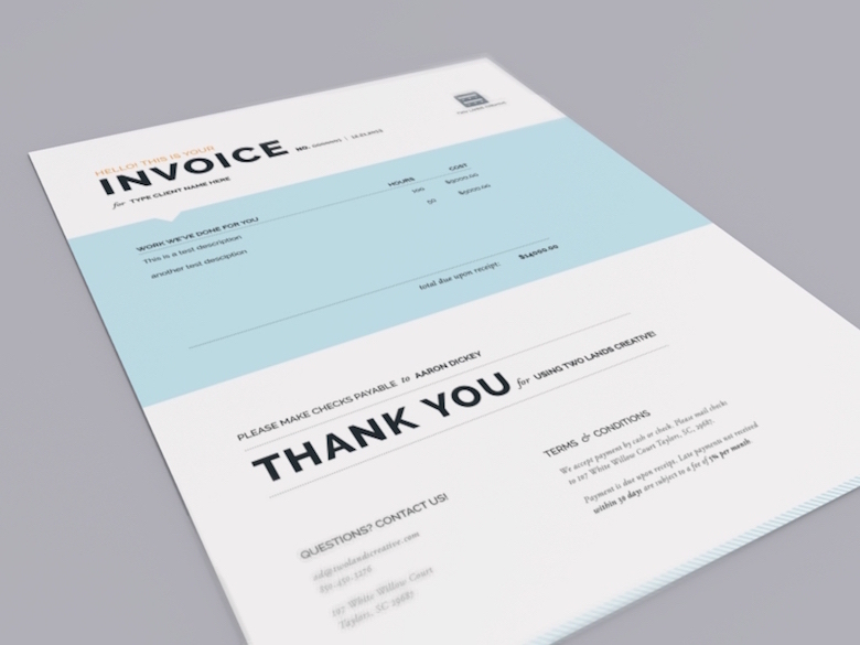 Creative invoice bill designs to impress clients - 10