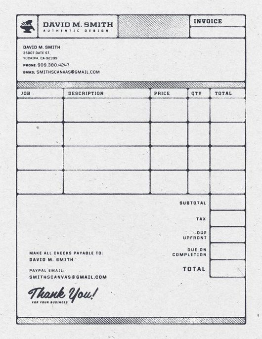 Creative invoice bill designs to impress clients - 20