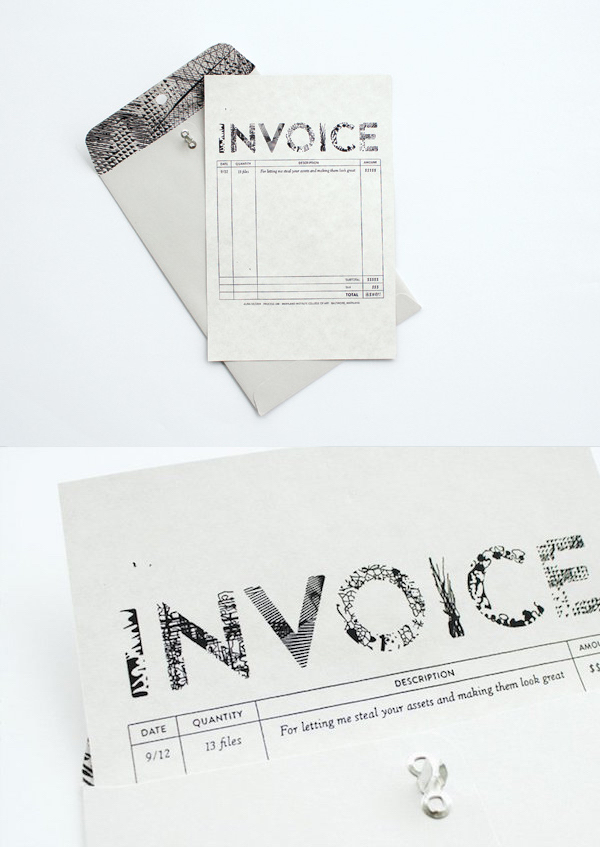 Creative invoice bill designs to impress clients - 21