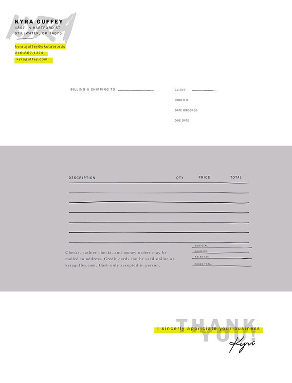 Creative invoice bill designs to impress clients - 22