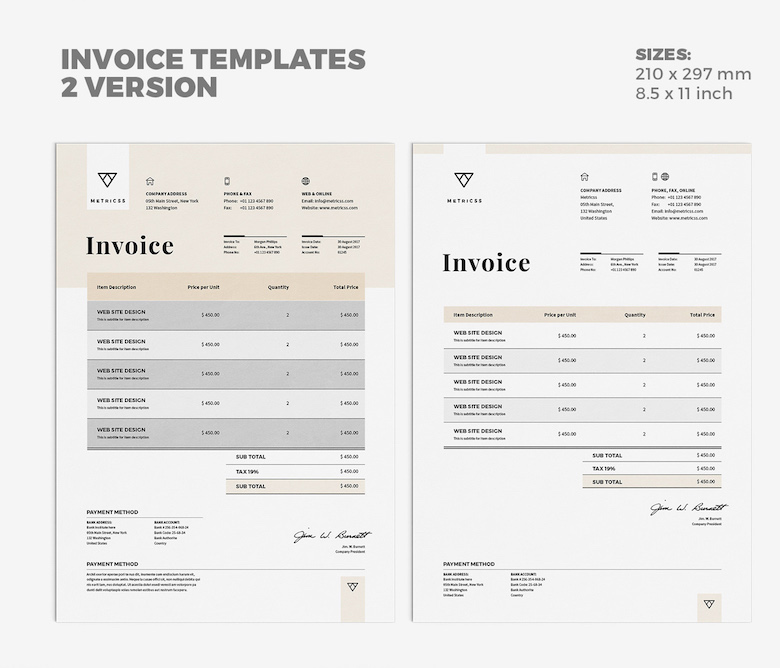Creative invoice bill designs to impress clients - 23