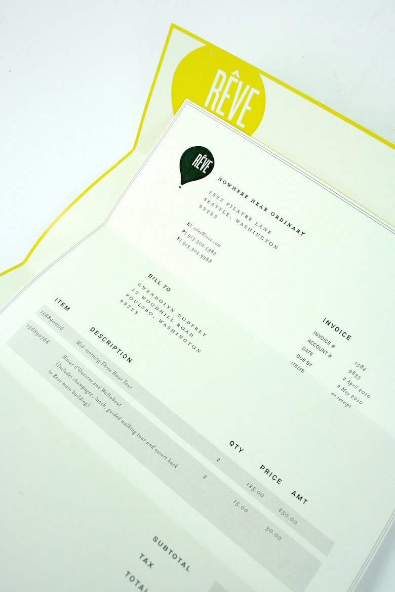 Creative invoice bill designs to impress clients - 25