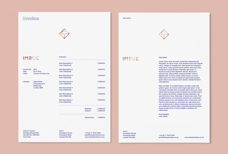 Creative invoice bill designs to impress clients - 26
