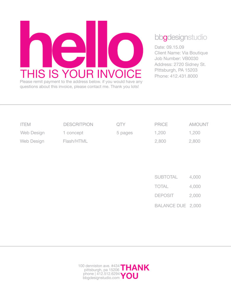 Creative invoice bill designs to impress clients - 33