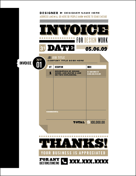 Creative invoice bill designs to impress clients - 35