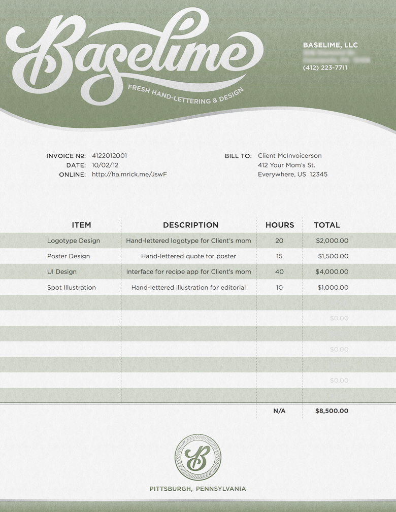 Creative invoice bill designs to impress clients - 4