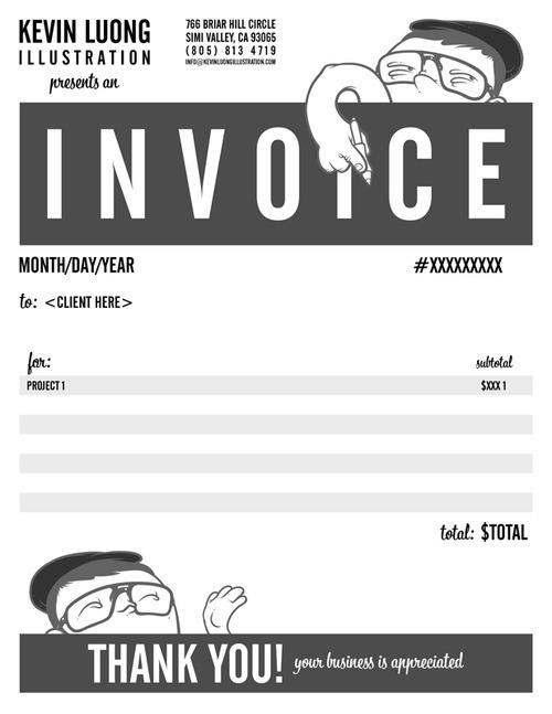 Creative invoice bill designs to impress clients - 5