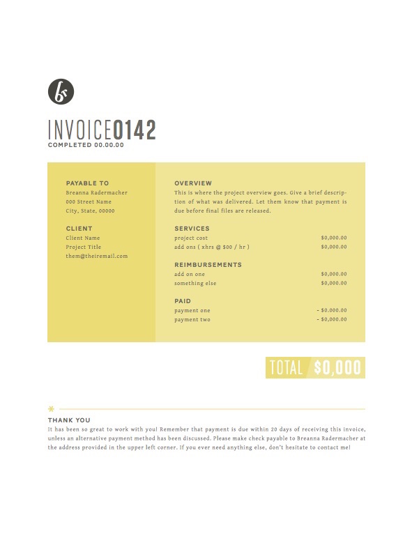 Creative invoice bill designs to impress clients - 7
