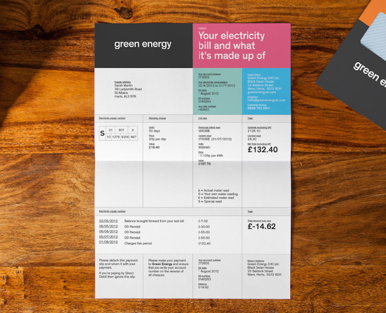 Creative invoice bill designs to impress clients - 8