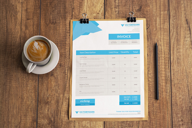 Creative invoice bill designs to impress clients - 9