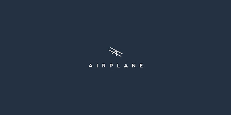 Creative Minimal Logos For Design Inspiration - Airplane