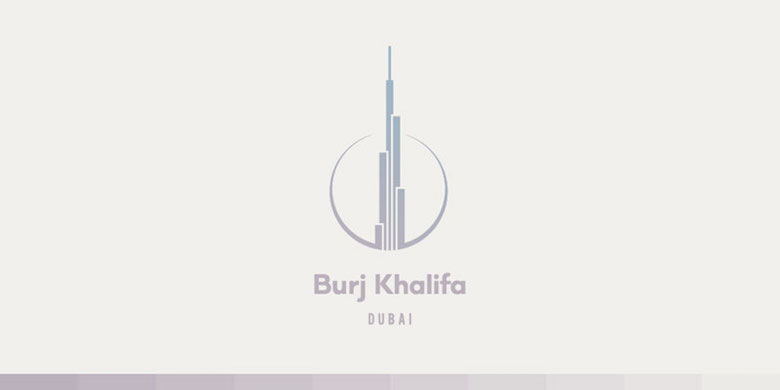 Creative Minimal Logos For Design Inspiration - Burj Khalifa