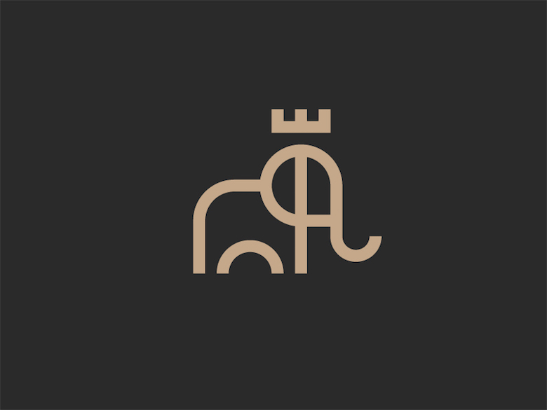 Creative Minimal Logos For Design Inspiration - King Elephant
