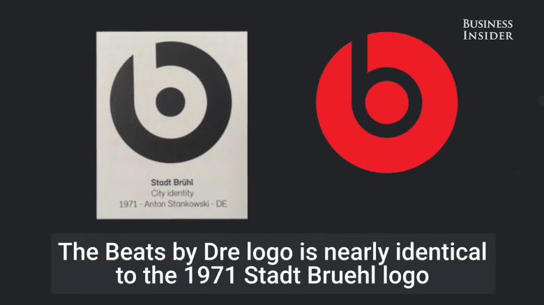 Famous logos that look similar: Beats by Dre & Stadt Bruehl
