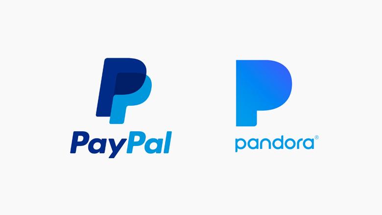 Famous logos that look similar: PayPal & Pandora