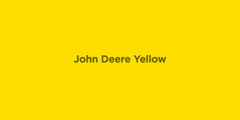 Trademarked Colors - John Deere Yellow