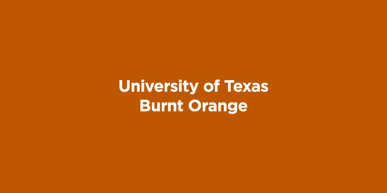 Trademarked Colors - University of Texas: Burnt Orange