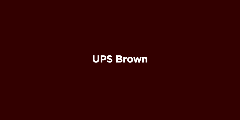 Trademarked Colors - UPS Brown