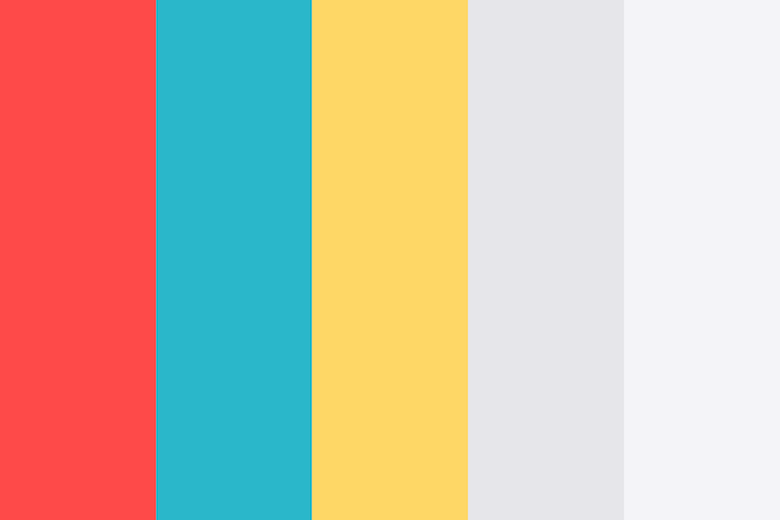 Red Blue Yellow Grey Color Shades Combinations Palettes Schemes