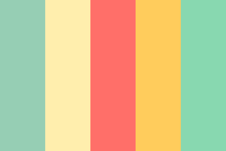 Beautiful color palettes, combinations and schemes - Beach
