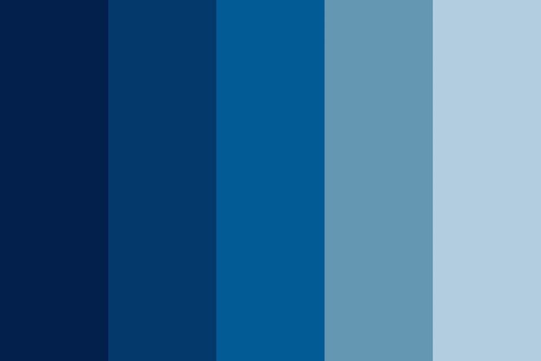 Blue Color Shades Combinations Palettes Schemes