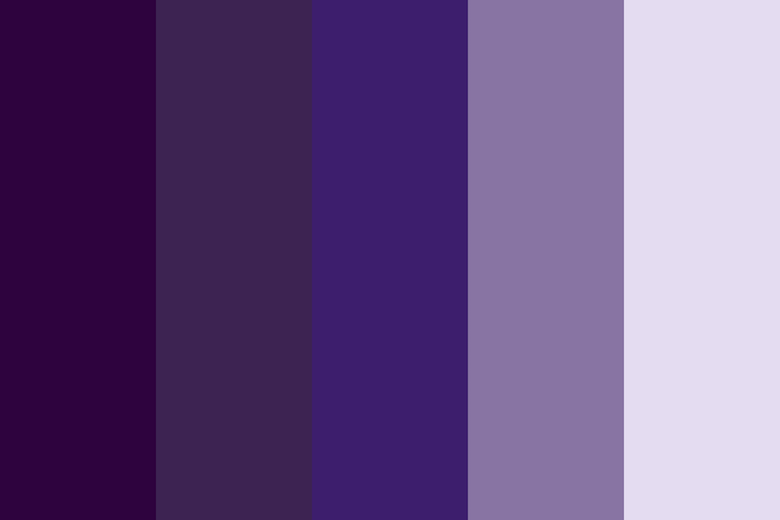 Beautiful color palettes, combinations and schemes - Purple Skyline
