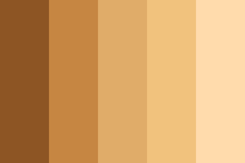 Beautiful color palettes, combinations and schemes - Skin Tones