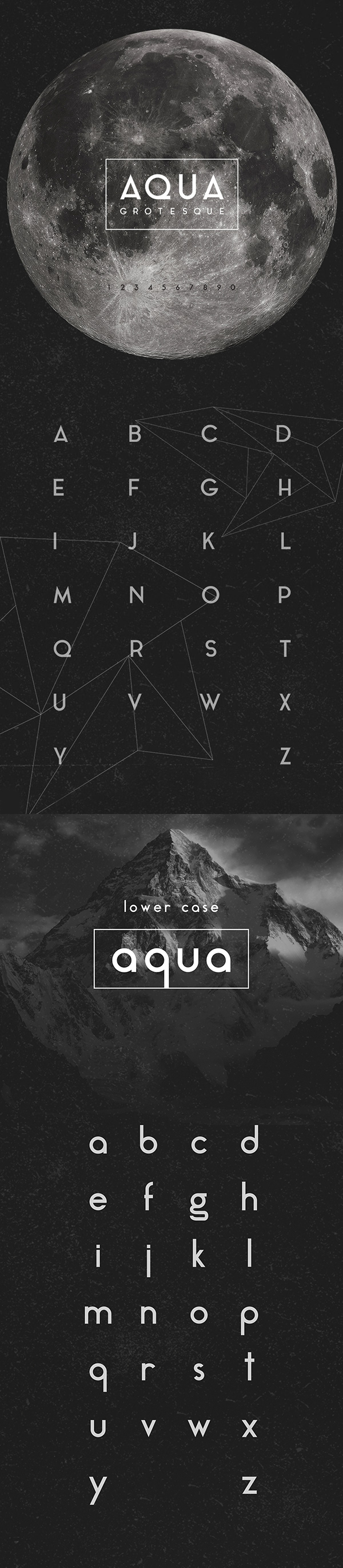 Beautiful, creative free fonts for designers - Aqua Grotesque