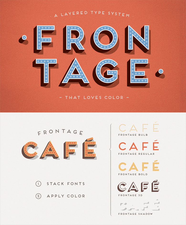 Beautiful, creative free fonts for designers - Frontage