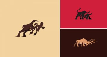 9 Beautiful Logos Of Animals In Charging Positions
