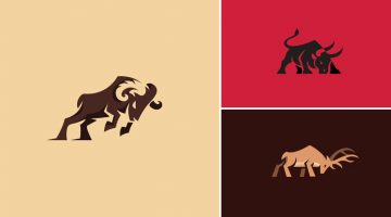 Beautiful Logos Of Animals In Charging Positions