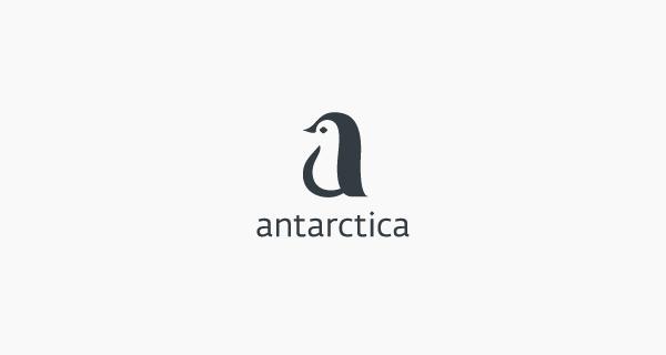 Creative single-letter logo designs - Antarctica
