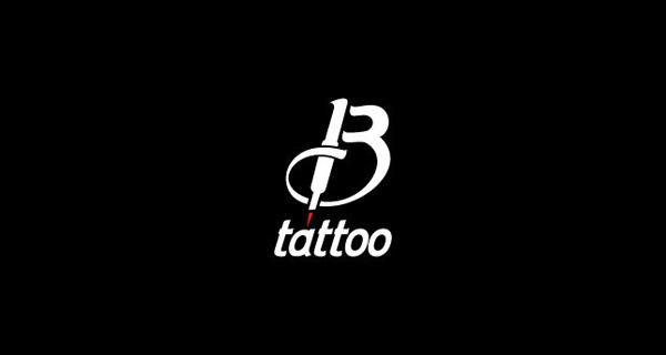 Creative single-letter logo designs - B. Tattoo
