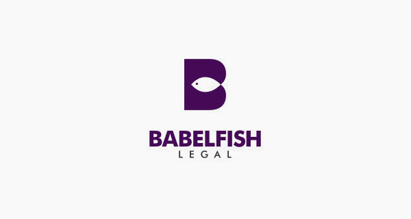 Creative single-letter logo designs - Babelfish Legal