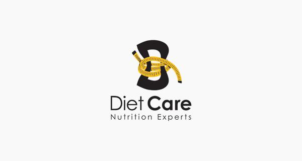 Creative single-letter logo designs - Diet Care