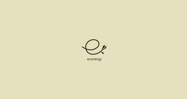 Creative single-letter logo designs - Econergy