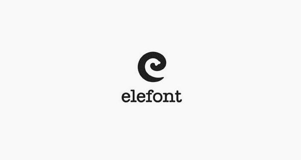 Creative single-letter logo designs - Elefont