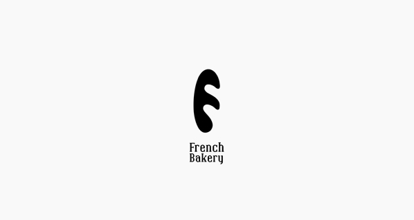 Creative single-letter logo designs - French Bakery