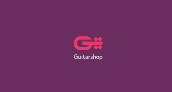 Creative single-letter logo designs - Guitarshop