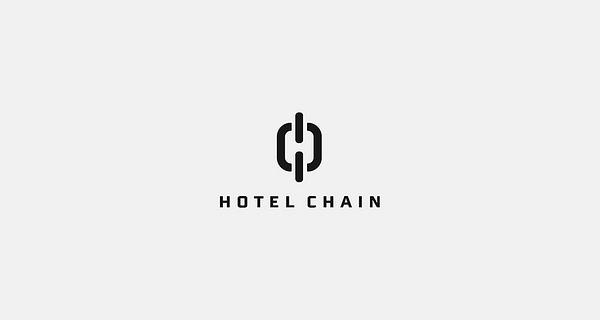 Creative single-letter logo designs - Hotel Chain