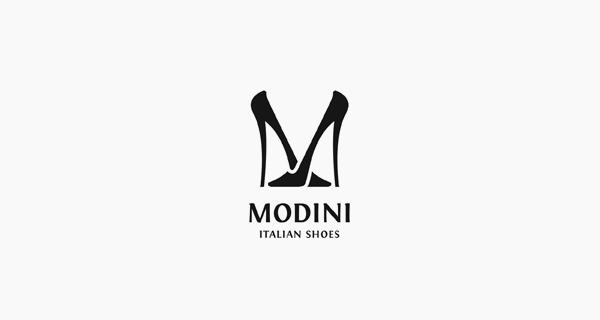 Creative single-letter logo designs - Modini Italian Shoes