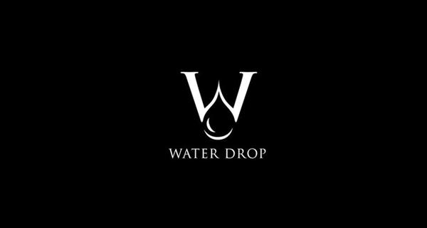 Creative single-letter logo designs - Water Drop
