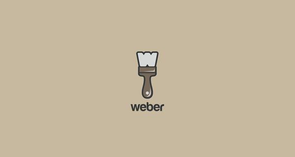Creative single-letter logo designs - Weber
