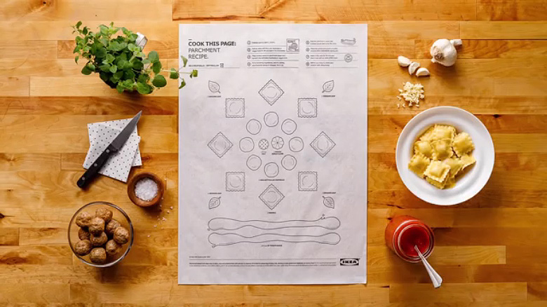 IKEA 'Cook This Paper' Recipe Series - 1