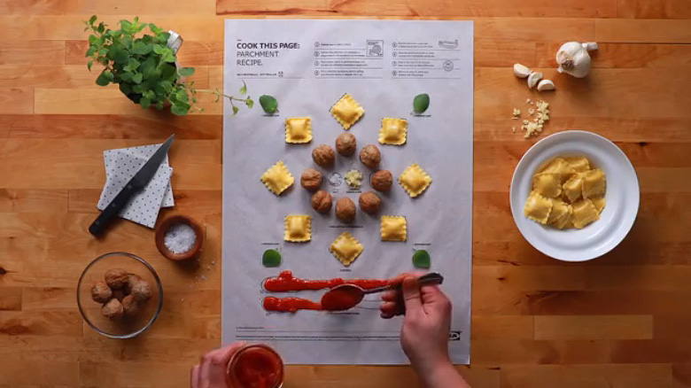IKEA 'Cook This Paper' Recipe Series - 7