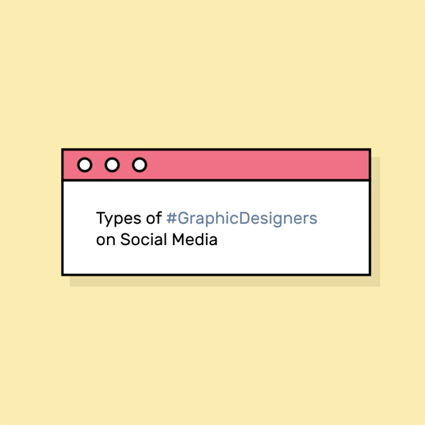 Different types of graphic designers on social media