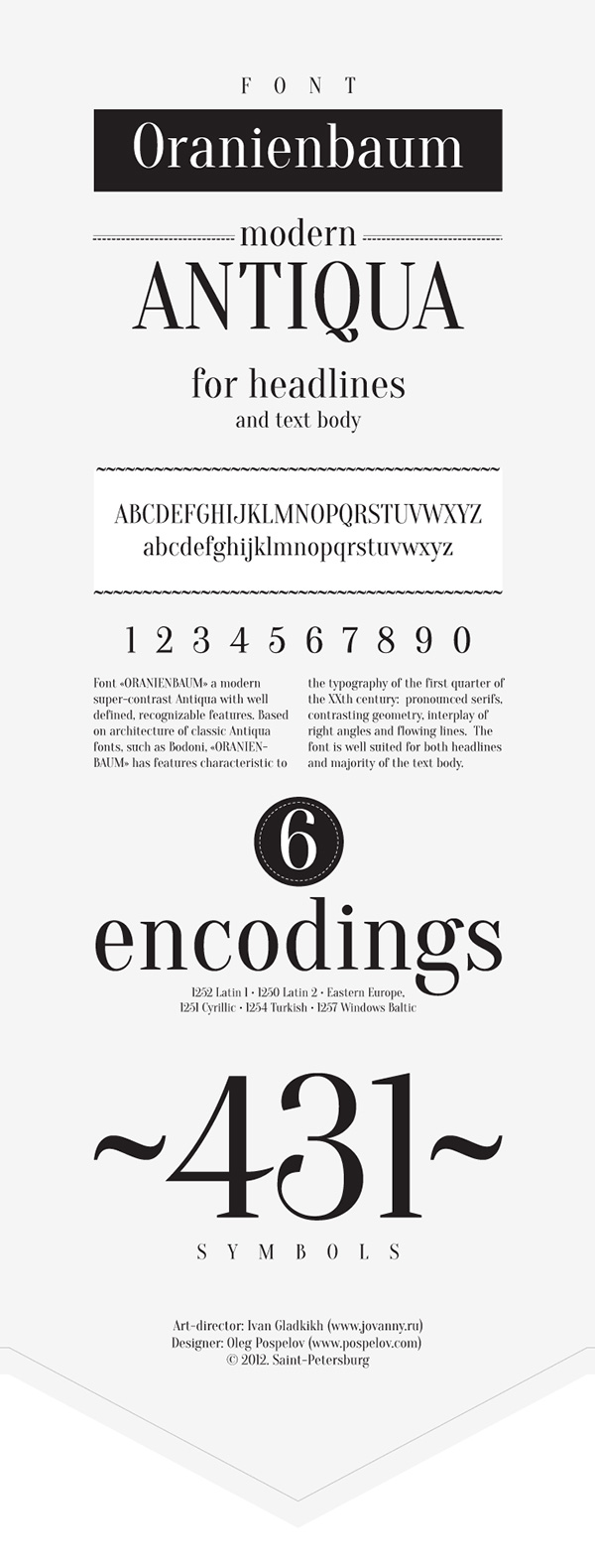 Beautiful free fonts for designers - Oranienbaum